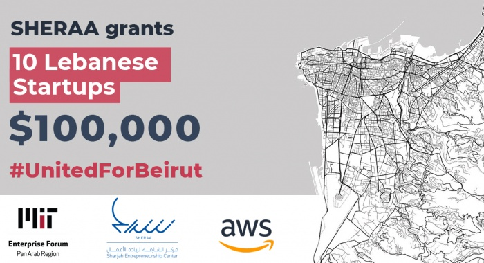 10 Lebanese MITEF alumni each receive $10,000 in equity-free grants and up to $10,000 in cloud credits #UnitedForBeirut